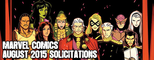 Marvel Comics Solicitations - On Sale Aug 2015