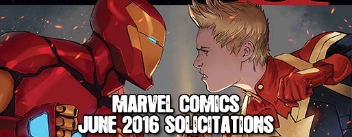 Marvel Comics Solicitations - On Sale Jun 2016
