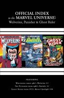 WOLVERINE, PUNISHER & GHOST RIDER: OFFICIAL INDEX TO THE MARVEL UNIVERSE #1
