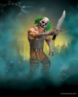 BATMAN: ARKHAM CITY: SERIES 3 ACTION FIGURES - CLOWN THUG WITH KNIFE