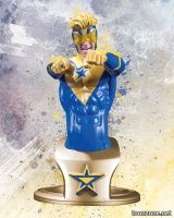 DC COMICS SUPER HEROES: BOOSTER GOLD BUST Sculpted by JAMES SHOOP