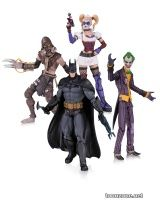 THE JOKER, HARLEY QUINN, SCARECROW AND BATMAN ACTION FIGURE 4-PACK
