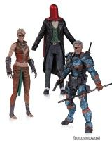 BATMAN: ARKHAM ORIGINS COPPERHEAD, THE JOKER AS RED HOOD AND DEATHSTROKE UNMASKED ACTION FIGURE 3-PACK