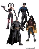 HARLEY QUINN, BATMAN, NIGHTWING AND ROBIN ACTION FIGURE 4-PACK