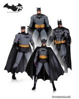 DC COLLECTIBLES BATMAN 75TH ANNIVERSARY ACTION FIGURE 4-PACK SET 1