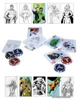 DC COMICS THE JUSTICE LEAGUE STARTER POKER SET