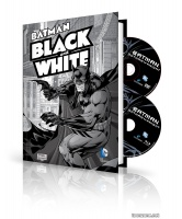 BATMAN BLACK AND WHITE HC BOOK AND DVD/BLU-RAY SET