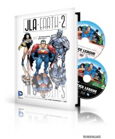 JLA EARTH 2 HC BOOK AND DVD/BLU-RAY SET