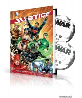 JUSTICE LEAGUE ORIGIN HC BOOK AND DVD/BLU-RAY SET
