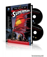 THE DEATH OF SUPERMAN HC BOOK AND DVD/BLU-RAY SET