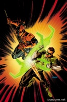 DEATHSTROKE #10 (Green Lantern 75 Variant Cover)