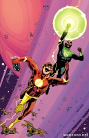THE FLASH #44 (Green Lantern 75 Variant Cover)