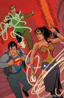 SUPERMAN/WONDER WOMAN #21 (Green Lantern 75 Variant Cover)