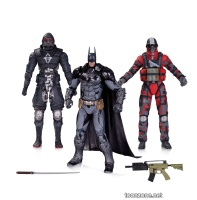 BATMAN: ARKHAM BATMAN AND THUGS ACTION FIGURES 3-PACK