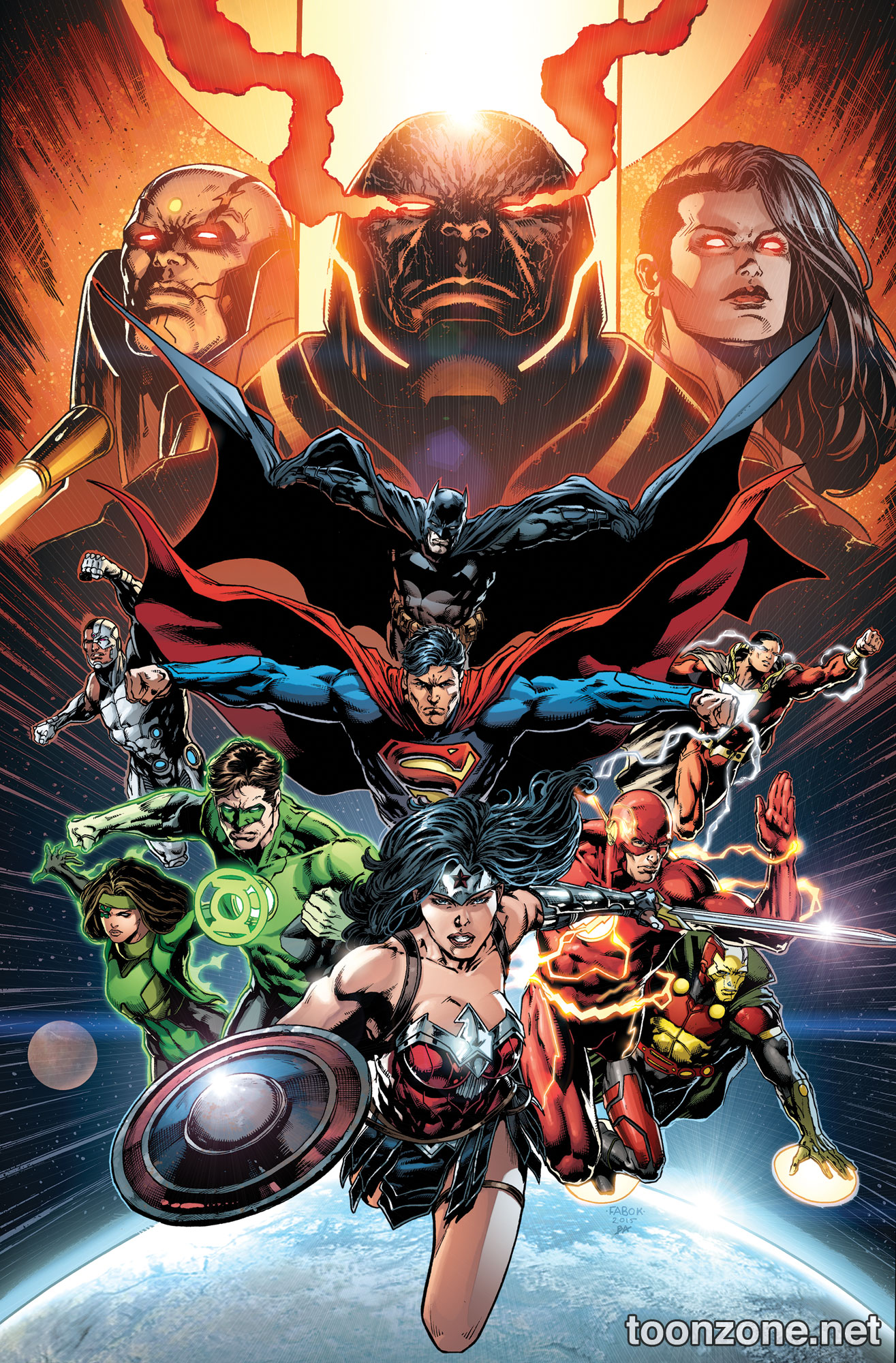 JUSTICE LEAGUE VOL. 8: THE DARKSEID WAR PART 2 HC Cover Art On Sale Jul  2016 - DC Comics Solicitations - Toonzone Comics