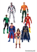 DC REBIRTH JUSTICE LEAGUE OF AMERICA ACTION FIGURE SEVEN-PACK