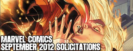 Marvel Comics Solicitations - On Sale Sep 2012