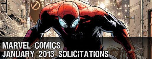 Marvel Comics Solicitations - On Sale Jan 2013