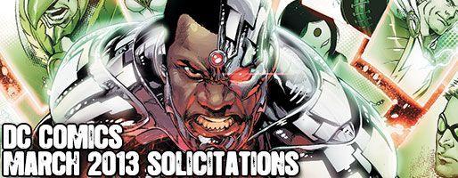 DC Comics Solicitations - On Sale Mar 2013