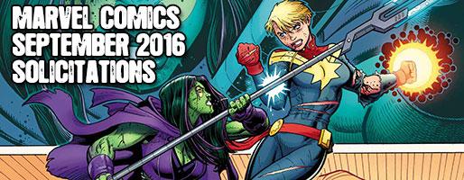 Marvel Comics Solicitations - On Sale Sep 2016