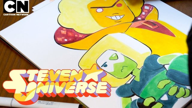Steven Universe  | Rebecca Sugar draws Hessonite and Squaridot on Save the Light! | Cartoon Network