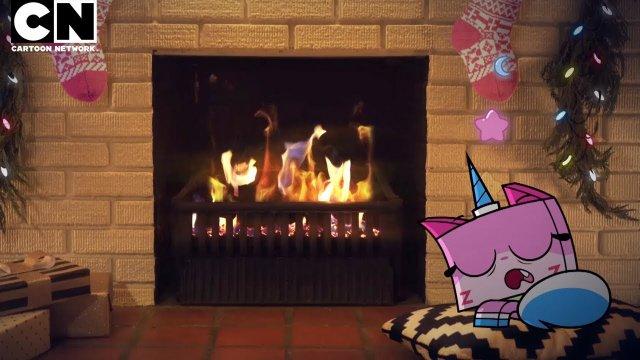 Unikitty | One Hour of Relaxing Yule Log | Cartoon Network