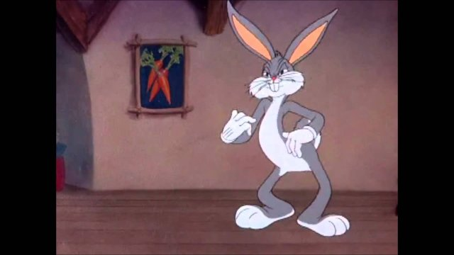 """Bugs Bunny's Angry Meltdown: Scene From """"Tortoise Wins By a Hare"""" (1943)"""