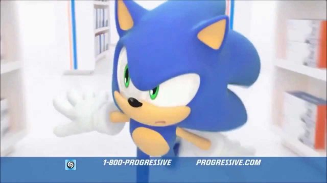 Sonic Progressive Insurance Commercial
