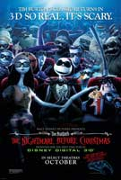 Nightmare Before Christmas 3-D Poster