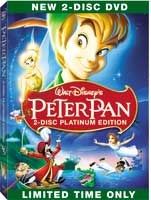 Peter Pan 2-Disc Platinum Edition Box Art