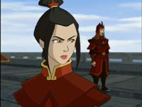 Azula in Fire Nation red and brown
