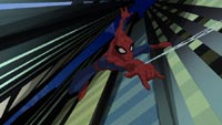 Spidey swings into action.