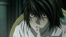 The mysterious detective L of Death Note