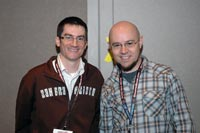Bryan Konietzko and Michael DiMartino at New York Comic Con 2008