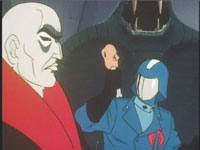 How did Cobra Commander take a bite from that chicken leg?