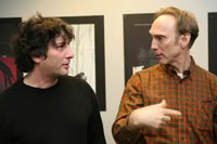 Neil Gaiman (left) and Henry Selick (right)