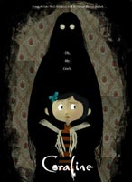 Movie poster for 'Coraline'