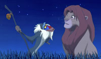 Rafiki and Simba from 'The Lion King'
