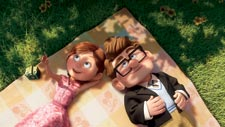 Ellie and Carl in younger days