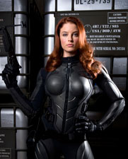 OK, I'll make an exception. Scarlett can wear the black jumpsuit.