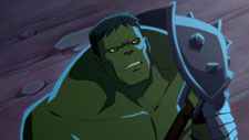 Hulk not going to fall asleep again and let his head tip too far to the left.