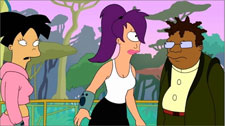 And I suppose Leela is the token Cyclops-American character