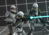 Clones can hit what they aim at, Stormtroopers can't, and the first episode hints why