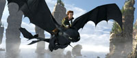 Hiccup riding Toothless