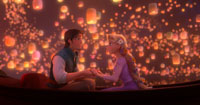 Not seen: the blooper reel where Rapunzel's hair kept catching on fire from all those lanterns.