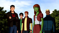I think they did this for all the complainers who said they never showed the Teen Titans out of costume