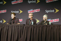 Kevin Conroy, Bruce Timm, and Andrea Romano