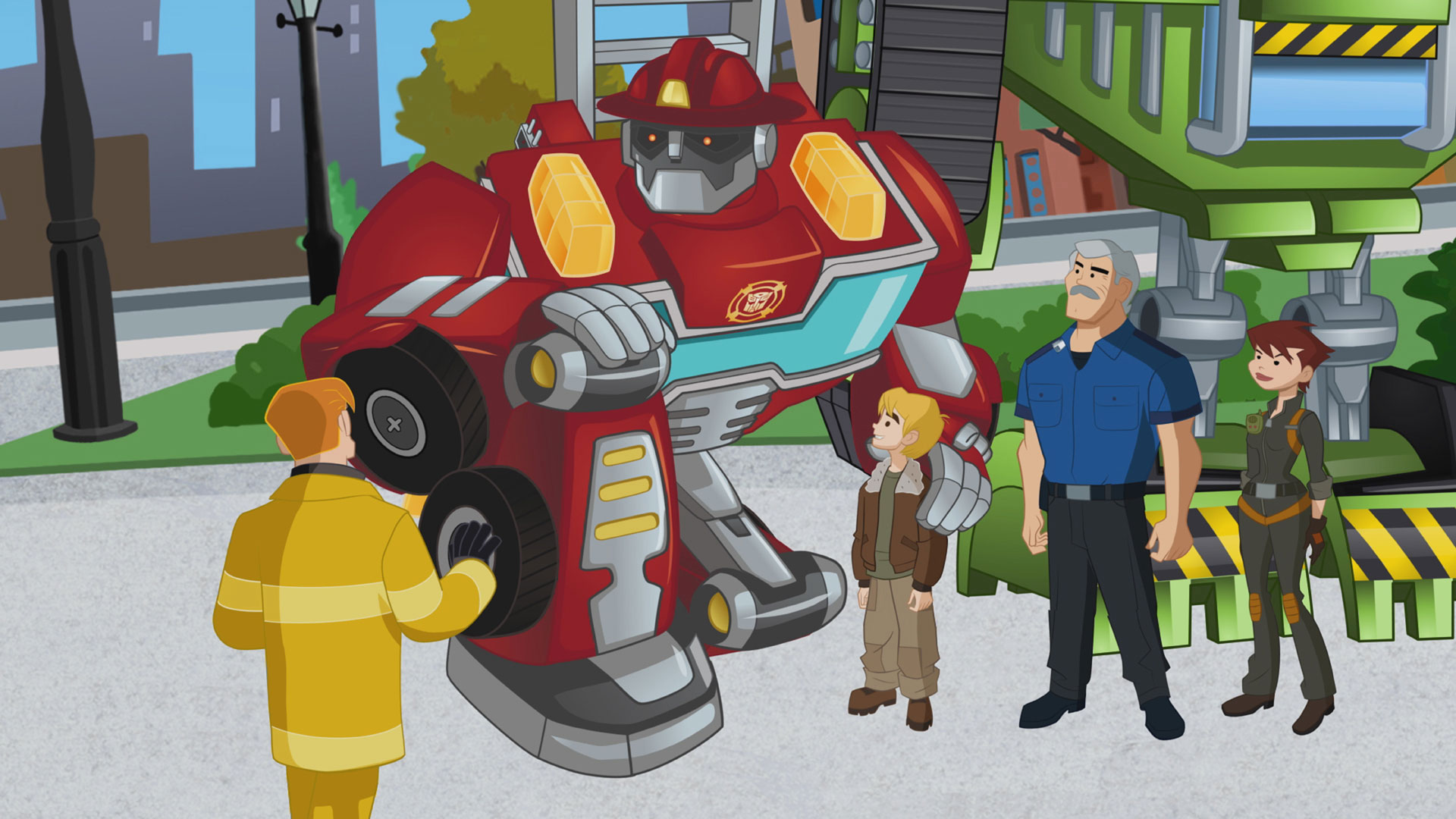 On The One Hand Transformers Rescue Bots Goes Out Of Its Way To Balance Importance Both Human And Robotic Characters