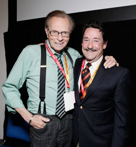 Larry King and Peter Cullen at San Diego Comic-Con 2012