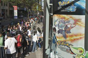 In this photo provided by Nintendo of America, fans flock to Nintendo World in New York on Oct. 6, 2012, to celebrate the launch of Pokémon Black Version 2 and Pokémon White Version 2 with a presale event. The two Pokémon games are available nationwide starting Oct. 7. (Photo: Business Wire)